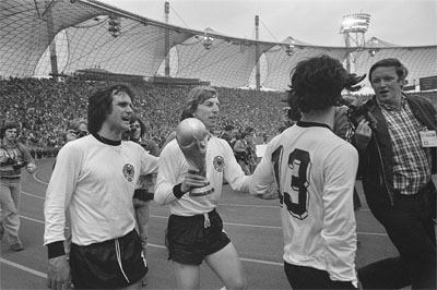 Germany football players and journalist