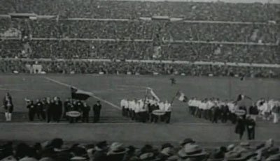 Opening cermony in football stadium