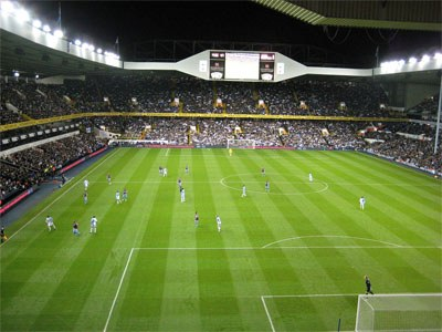 Match at White Hart Lane with Tottenham